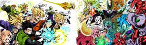 Collab DBZ Heroes VS Villains