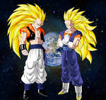Gogeta and Vegeto SSJ3