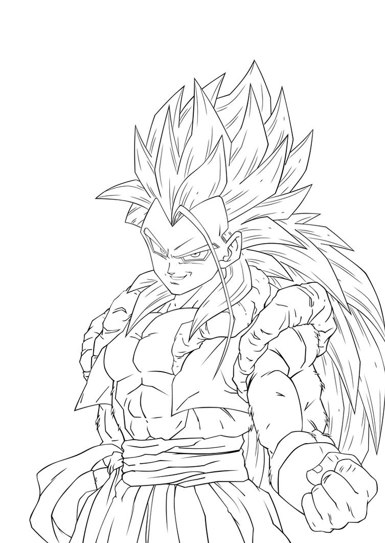coloring pages dragonball z ssj5 - photo#7