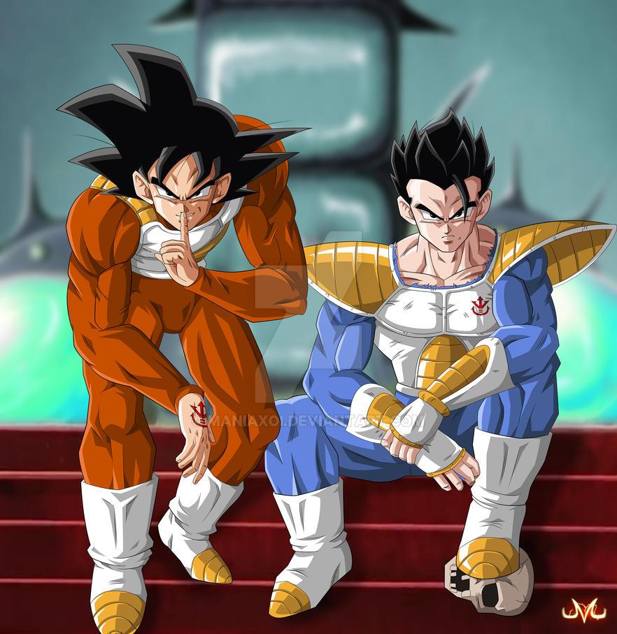 Commission : Goku and Gohan Saiyans by Maniaxoi on DeviantArt