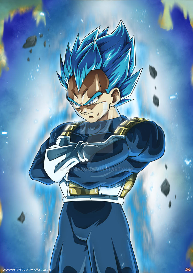 Vegeta SSBlue Full Power by Maniaxoi on DeviantArt