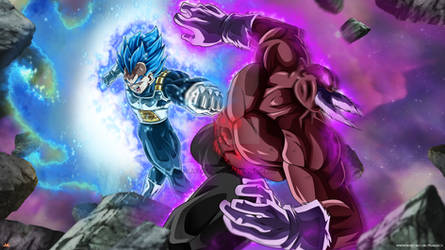 Vegeta full power Vs Toppo by Maniaxoi