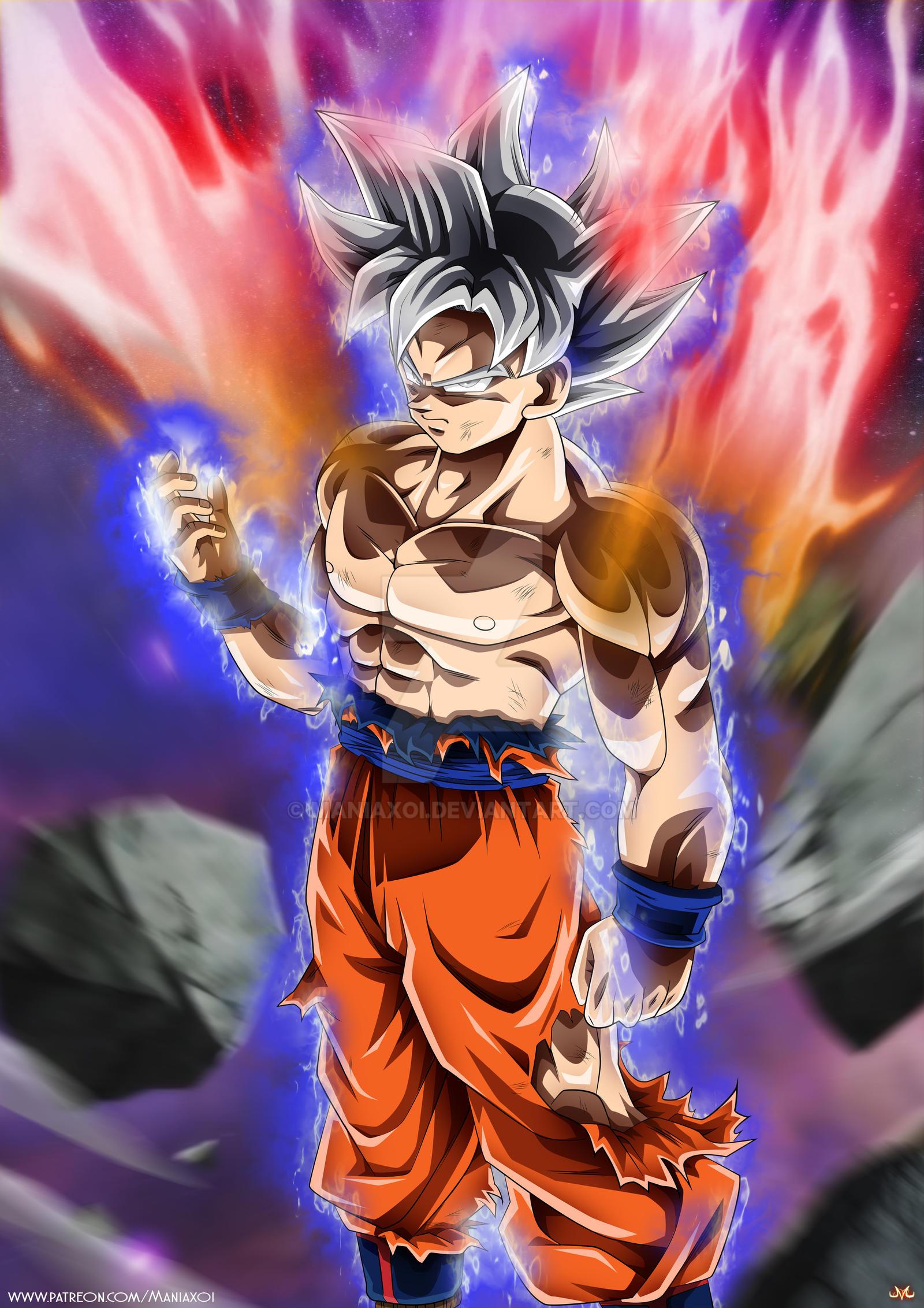 Goku mastered ultra instinct by maniaxoi on deviantart - Goku ultra instinct mastered wallpaper ...