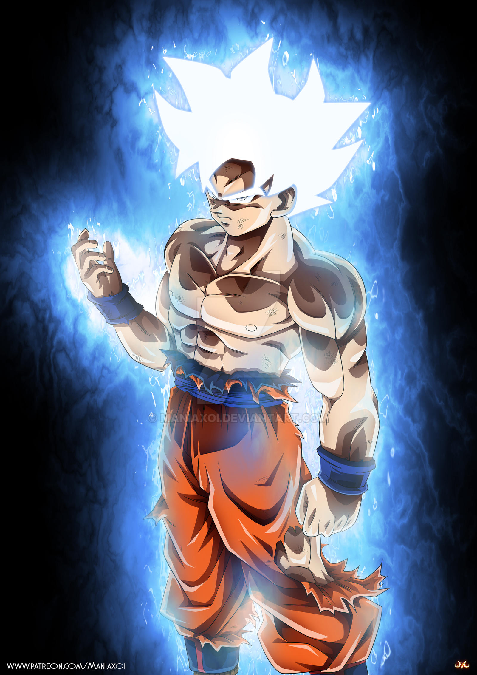 Goku mastered ultra instinct 2 by maniaxoi on deviantart - Goku ultra instinct mastered wallpaper ...