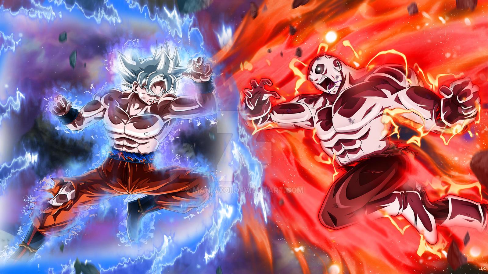 Goku Full Ultra Instinct VS Jiren By Maniaxoi On DeviantArt