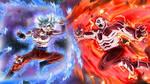Goku Full Ultra Instinct VS Jiren