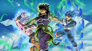 Mysterious Saiyan VS Goku and Vegeta