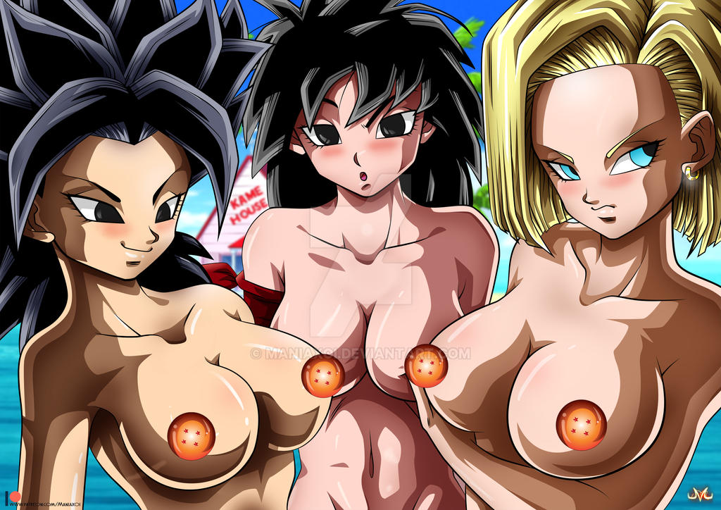 Caulifla / Gine / 18 - Nude Version by Maniaxoi