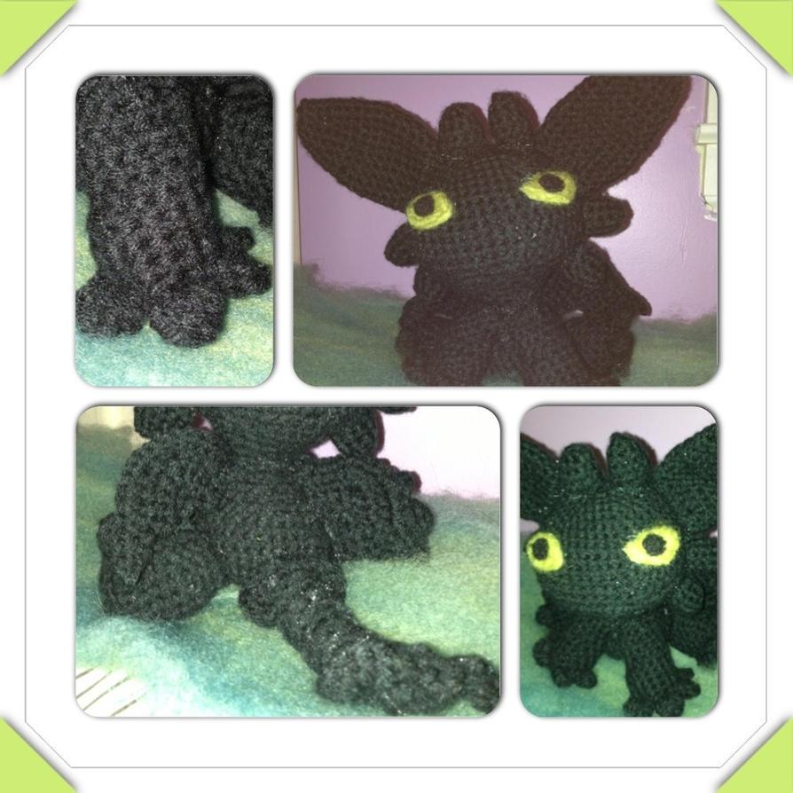 Crochet Amigurumi Toothless by The-Little-Papaya on DeviantArt