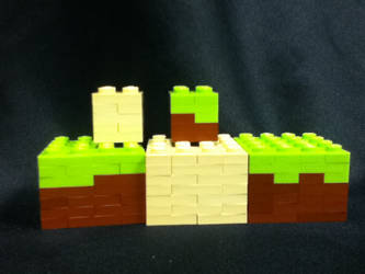 Minecraft Grass block and Sand Block by SuperYoshiCookie