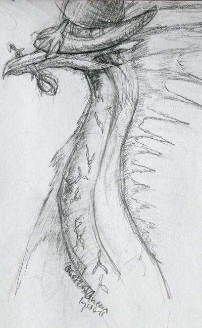 Cedric sketch- WIP by Quetzal-Queen