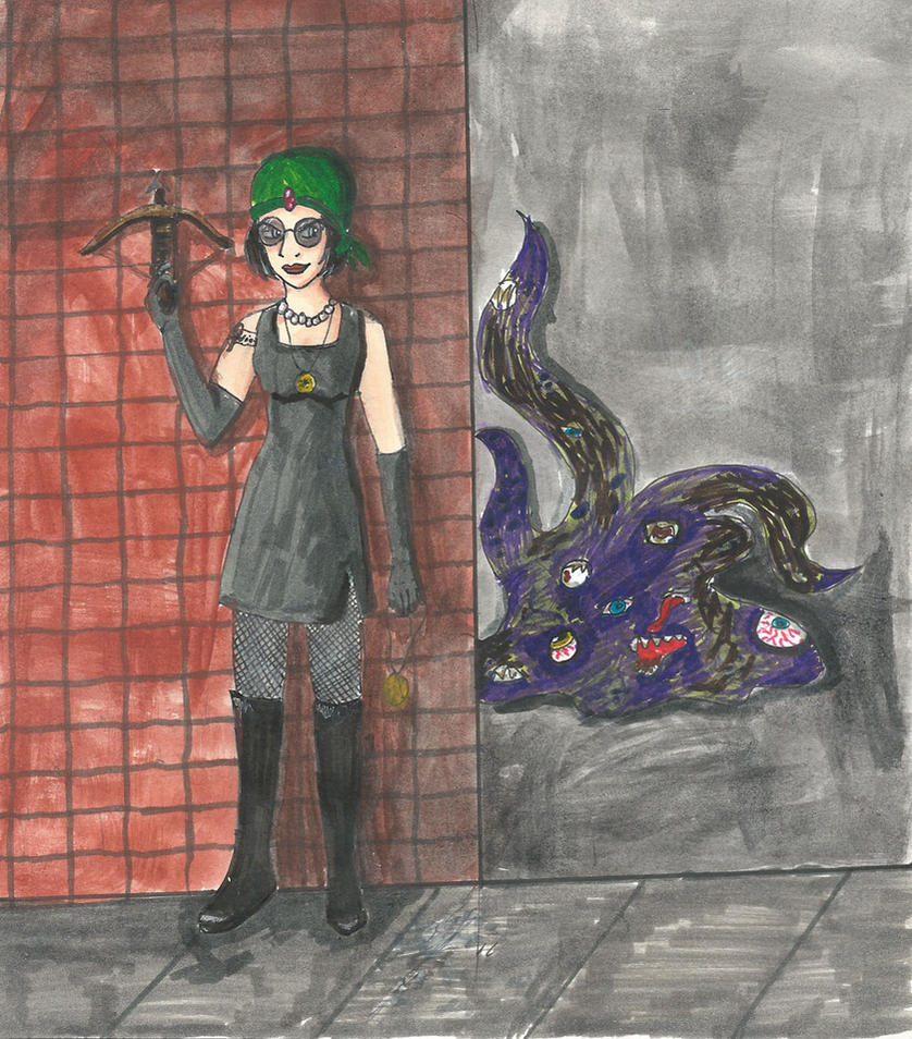 The Lady and the Shoggoth by NekonaHisaki