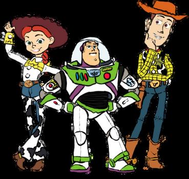 Jessie Buzz Woody by roflbananas