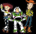 Buzz Woody Jessie by Kittychan2005 on DeviantArt