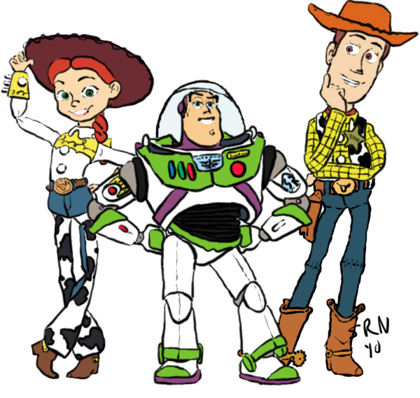 Jessie Buzz Woody by roflbananasWoody And Buzz Drawing