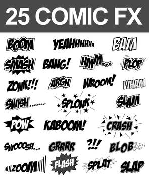 25 Comic Sound FX (Vector Set)