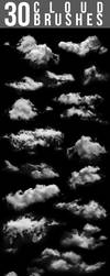30 Cloud Brushes by nadaimages
