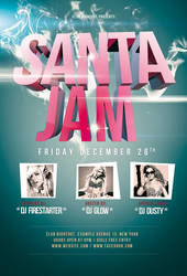 Santa Jam Flyer / Videoflyer by nadaimages