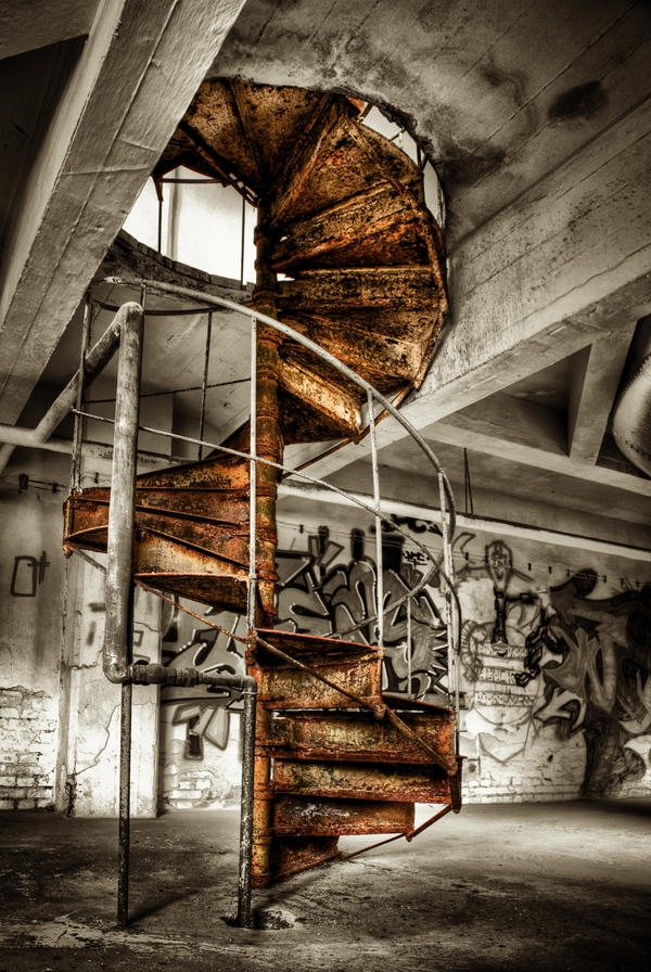 Rusty Stairs by Matthias-Haker