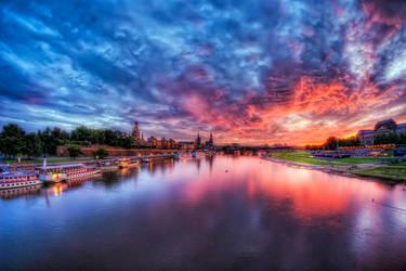 Dresden Sunset I by Matthias-Haker