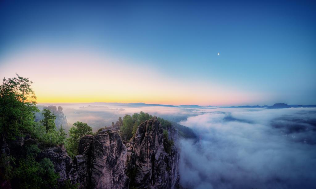 Sunrise at Saxon Switzerland by Matthias-Haker