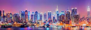 Midtwon Manhattan Skyline by Matthias-Haker