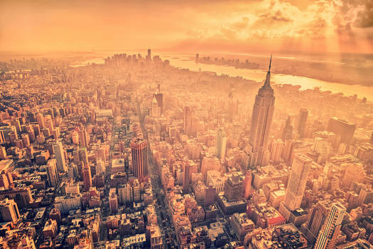 A Birds Eye View Above Manhattan