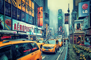 Foggy Times Square by Matthias-Haker