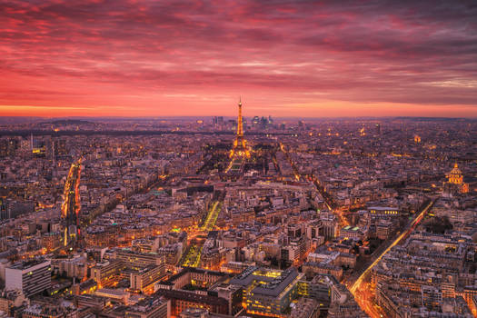 Burning Sky over Paris