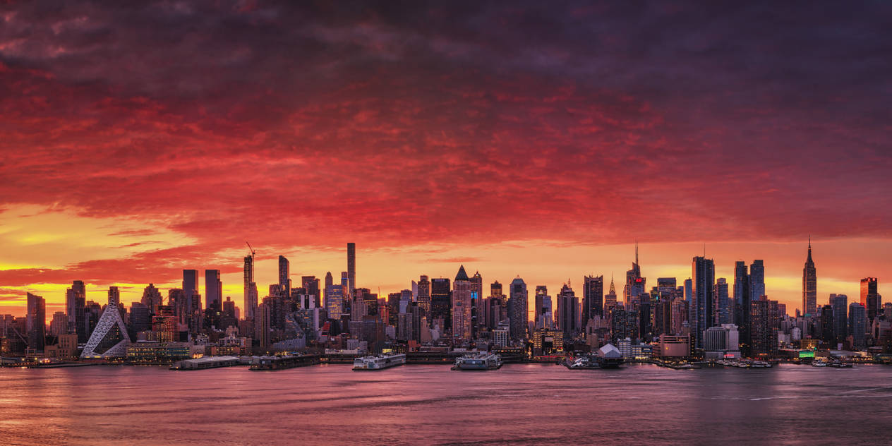 Sunrise Above Manhattan by Matthias-Haker
