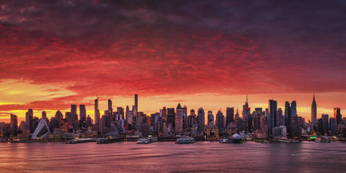 Sunrise Above Manhattan