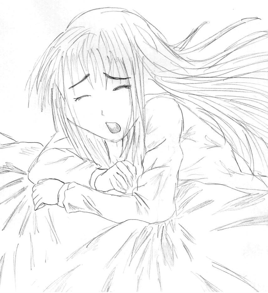 Crying Anime Girl By Sketchva On DeviantArt