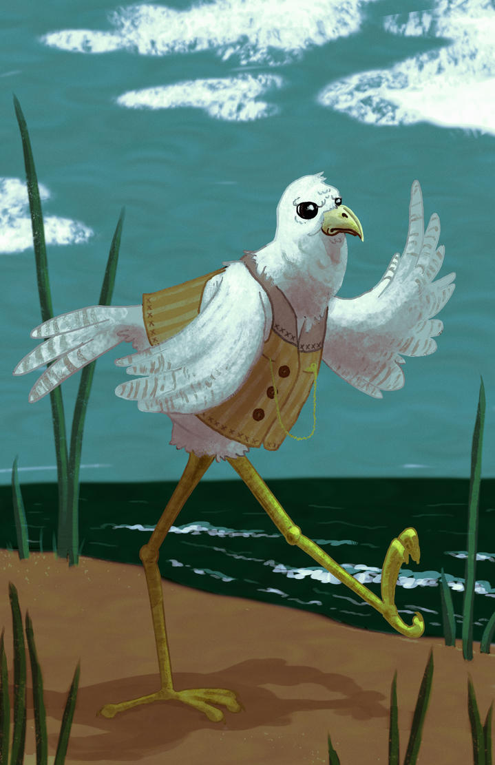 Busy Bird by drawsomestuffs