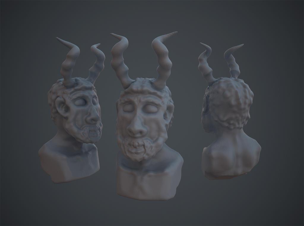 Random Demon Bust (Oculus Medium) by KevinLongtime