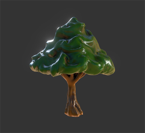 Stylized Forest Tree (Oculus Medium). by KevinLongtime