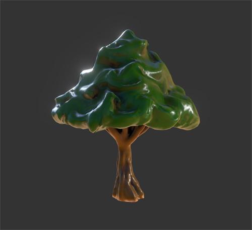 Stylized Forest Tree (Oculus Medium). by KevinLongtime