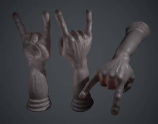 Rock Hand (Oculus Medium) by KevinLongtime