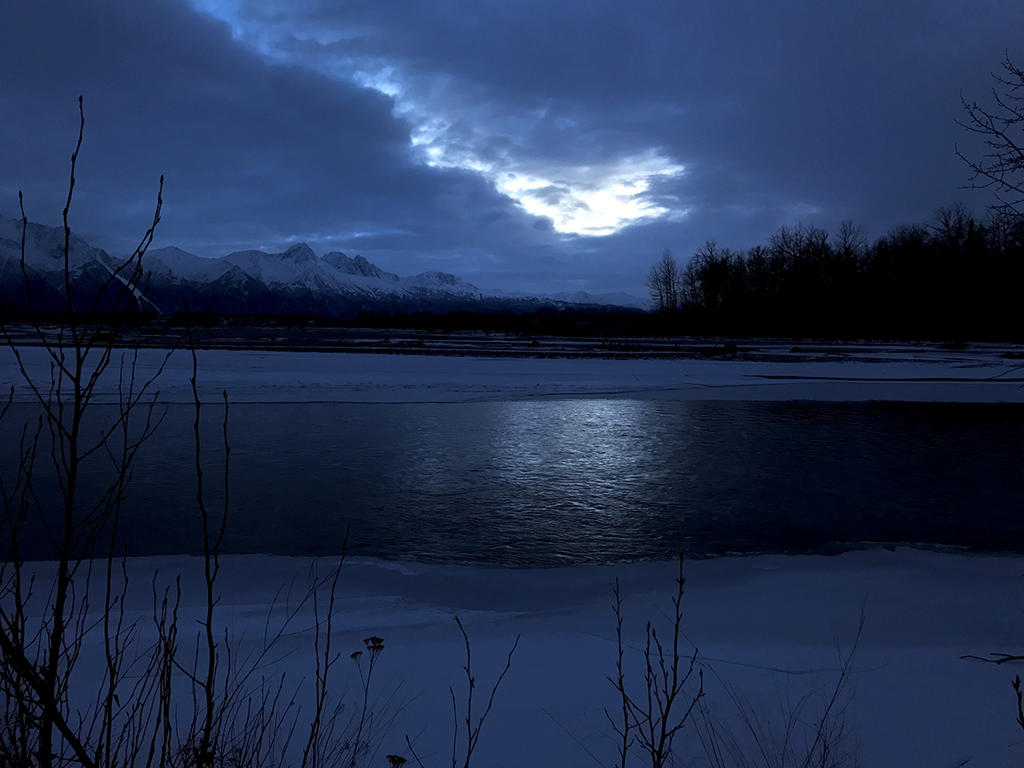 Nighttime At The River (Alaska) by KevinLongtime