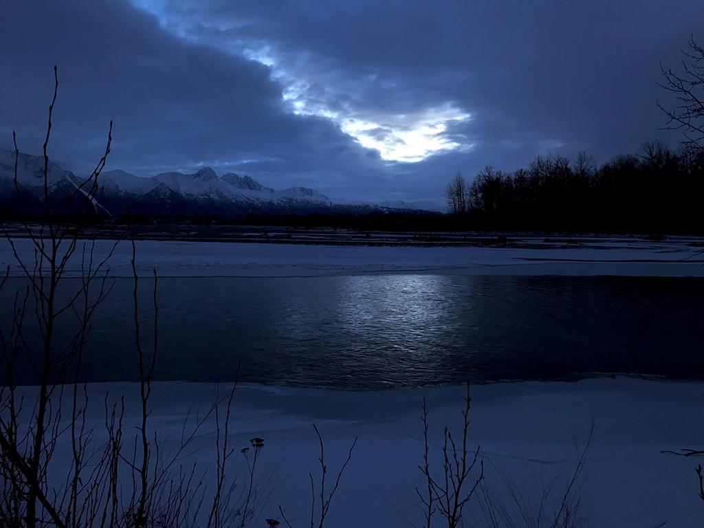 Nighttime At The River (Alaska) by KevinLongtime