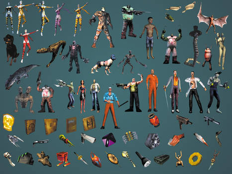 Shadow Man Video Game Characters and Items