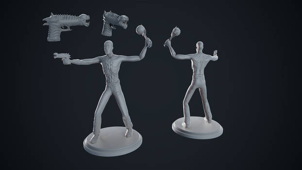 Shadowman Figure WIP (For 3D Printing)