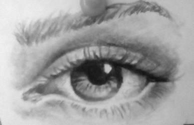 a graphite eye by ArtsyMusician14