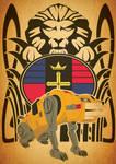 Voltron Art Nouveau Yellow Lion