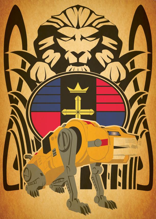 Voltron Art Nouveau Yellow Lion by Samoht-LionVoltron Yellow Lion
