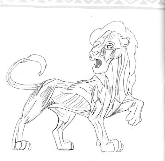 Muscular Lion Drawing Simba muscle study by samoht-