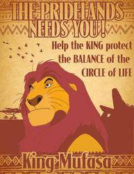 Mufasa Prideland propgand poster by Samoht-Lion