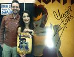 Marina Sirtis and Samoht Lion with Demona Poster
