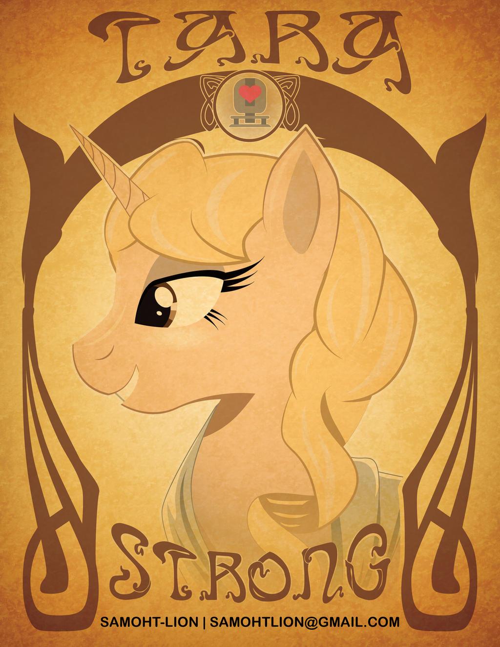 Tara Strong art Nouveau by Samoht-Lion