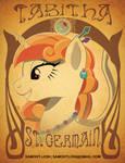 Tabitha St Germain Art Nouveau Con Badge