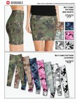 Redbubble Products Camo Skirt and Leggings
